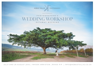 Wedding workshop by Kobus Tollig
