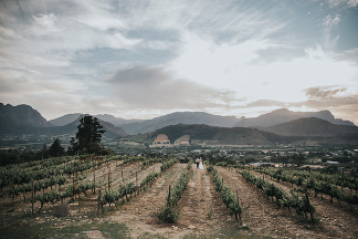 Franschhoek wedding by photographer Kobus Tollig