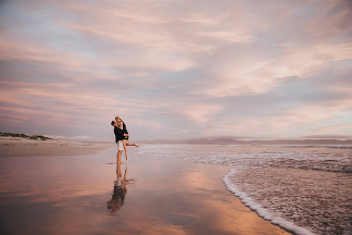 Hermanus engagement by photographer Kobus Tollig